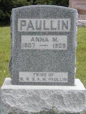 PAULLIN, ANNA MAE - Madison County, Iowa | ANNA MAE PAULLIN