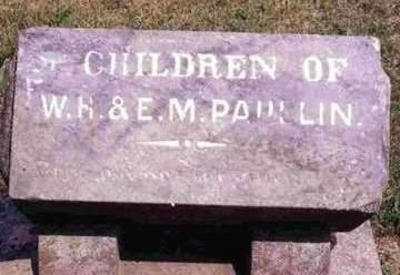 PAULLIN, CHILDREN - Madison County, Iowa | CHILDREN PAULLIN