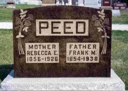 PEED, REBECCA ELLEN - Madison County, Iowa | REBECCA ELLEN PEED