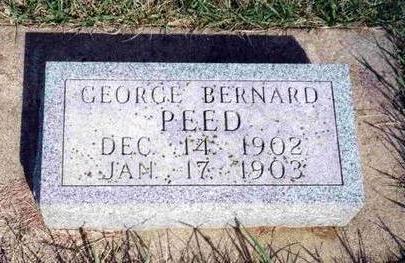 PEED, GEORGE BERNARD - Madison County, Iowa | GEORGE BERNARD PEED