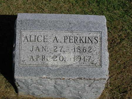PERKINS, ALICE  AUGUSTA - Madison County, Iowa   ALICE  AUGUSTA PERKINS