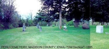 PERU, CEMETERY - Madison County, Iowa   CEMETERY PERU
