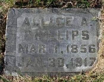 PHILLIPS, ALLICE AMELIA - Madison County, Iowa   ALLICE AMELIA PHILLIPS