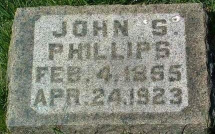 PHILLIPS, JOHN SHOEMAKER - Madison County, Iowa | JOHN SHOEMAKER PHILLIPS