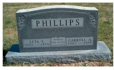 PHILLIPS, LETA ELIZABETH GERTRUDE - Madison County, Iowa | LETA ELIZABETH GERTRUDE PHILLIPS