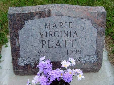 PLATT, MARIE VIRGINIA - Madison County, Iowa | MARIE VIRGINIA PLATT