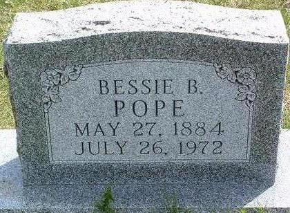 POPE, BESSIE BLANCHE - Madison County, Iowa | BESSIE BLANCHE POPE