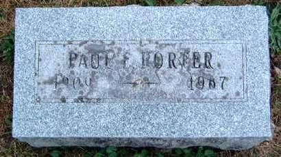 PORTER, PAUL EDWARD - Madison County, Iowa | PAUL EDWARD PORTER
