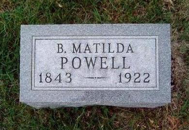 POWELL, BETSY MATILDA - Madison County, Iowa | BETSY MATILDA POWELL