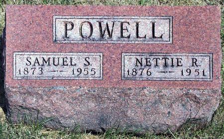 POWELL, NETTIE R. - Madison County, Iowa   NETTIE R. POWELL