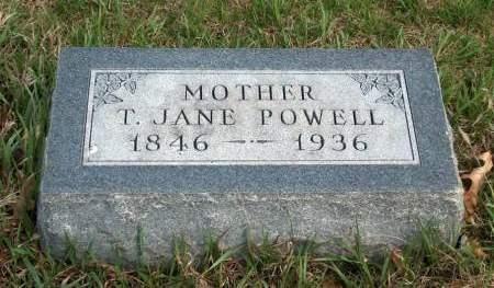 POWELL, TALITHA JANE - Madison County, Iowa | TALITHA JANE POWELL