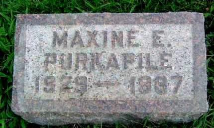 PURKAPILE, MAXINE E. - Madison County, Iowa   MAXINE E. PURKAPILE