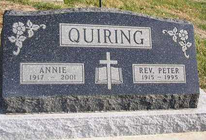 QUIRING, PETER C., REV. - Madison County, Iowa | PETER C., REV. QUIRING