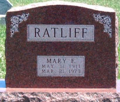 RATLIFF, MARY ELDRA - Madison County, Iowa   MARY ELDRA RATLIFF