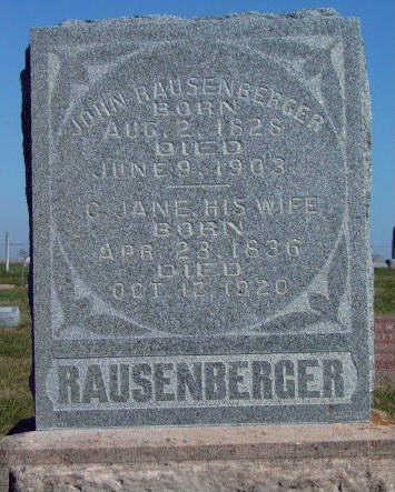 RAUSENBERGER, JOHN - Madison County, Iowa | JOHN RAUSENBERGER