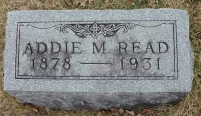 READ, ADDIE M. - Madison County, Iowa | ADDIE M. READ