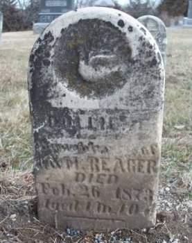 REAGER, DOLLIE ELIZABETH - Madison County, Iowa | DOLLIE ELIZABETH REAGER