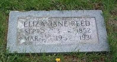 REED, ELIZA JANE - Madison County, Iowa   ELIZA JANE REED