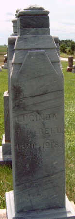 REED, LUCINDA JANE - Madison County, Iowa   LUCINDA JANE REED