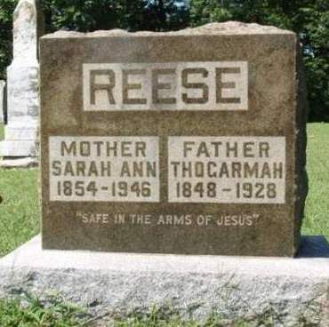 REESE, THOGARMAH - Madison County, Iowa   THOGARMAH REESE