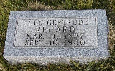 REHARD, LULA GERTRUDE - Madison County, Iowa | LULA GERTRUDE REHARD