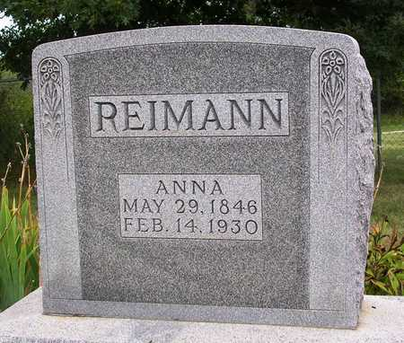 REIMANN, ANNA ELIZABETH - Madison County, Iowa | ANNA ELIZABETH REIMANN
