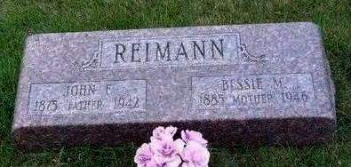 REIMANN, BESSIE MAY - Madison County, Iowa | BESSIE MAY REIMANN
