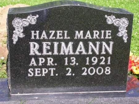 REIMANN, HAZEL MARIE - Madison County, Iowa | HAZEL MARIE REIMANN