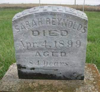REYNOLDS, SARAH - Madison County, Iowa   SARAH REYNOLDS