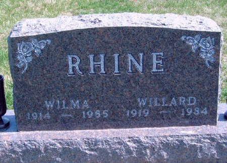 RHINE, WILLARD DALE (BROWNIE) - Madison County, Iowa | WILLARD DALE (BROWNIE) RHINE