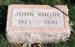 RHODE, JOHN - Madison County, Iowa   JOHN RHODE