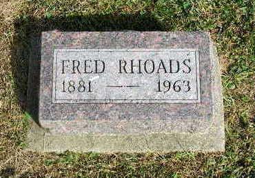 RHOADS, FRED - Madison County, Iowa   FRED RHOADS
