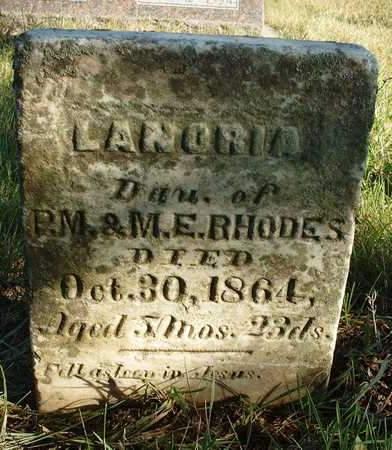 RHODES, LANORIA - Madison County, Iowa | LANORIA RHODES
