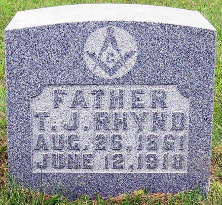RHYNO, THOMAS JEFFERSON (T.J.) - Madison County, Iowa   THOMAS JEFFERSON (T.J.) RHYNO