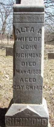 WALKER RICHMOND, ALTA A. - Madison County, Iowa | ALTA A. WALKER RICHMOND
