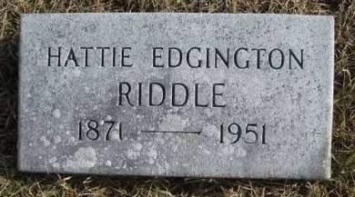 RIDDLE, HATTIE A. - Madison County, Iowa | HATTIE A. RIDDLE