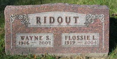 RIDOUT, FLOSSIE LOUISE - Madison County, Iowa | FLOSSIE LOUISE RIDOUT