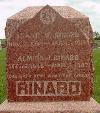 RINARD, ALMIRA JANE - Madison County, Iowa   ALMIRA JANE RINARD