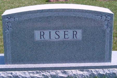 RISER, FAMILY STONE - Madison County, Iowa   FAMILY STONE RISER