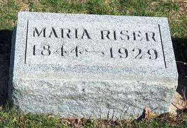 RISER, MARIA - Madison County, Iowa   MARIA RISER
