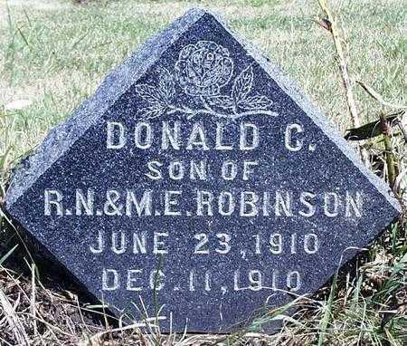 ROBINSON, DONALD CHARLES - Madison County, Iowa | DONALD CHARLES ROBINSON