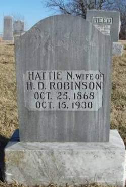 ROBINSON, HATTIE NINERAH - Madison County, Iowa | HATTIE NINERAH ROBINSON