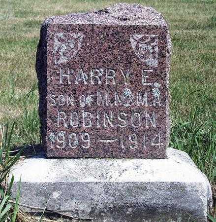 ROBINSON, HARRY ERNEST - Madison County, Iowa | HARRY ERNEST ROBINSON