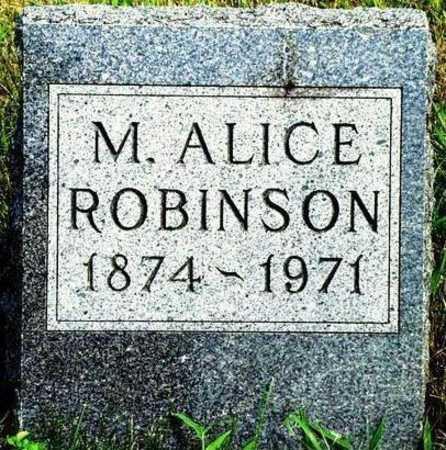 ROBINSON, MYRA ALICE - Madison County, Iowa | MYRA ALICE ROBINSON