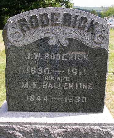 RODERICK, JOHN WILLIAM - Madison County, Iowa   JOHN WILLIAM RODERICK
