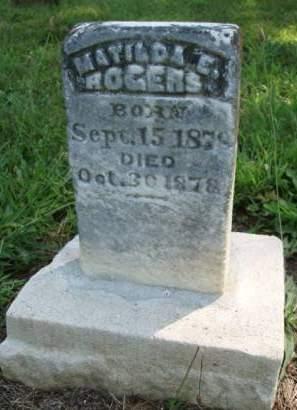 ROGERS, MATILDA E. - Madison County, Iowa | MATILDA E. ROGERS