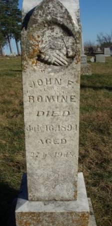 ROMINE, JOHN FRANKLIN - Madison County, Iowa | JOHN FRANKLIN ROMINE