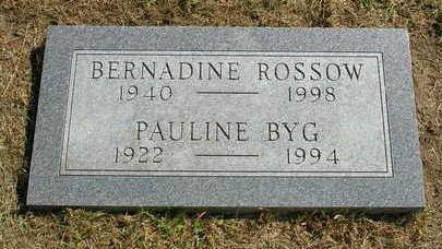 ROSSOW, BERNADINE - Madison County, Iowa | BERNADINE ROSSOW