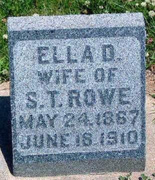 ROWE, ELLA D. - Madison County, Iowa | ELLA D. ROWE