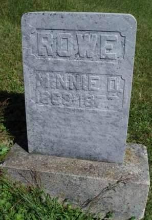 ROWE, MINNIE D. - Madison County, Iowa   MINNIE D. ROWE